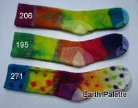 Hand dyed Socks Ladies 7 (Size 2-8)